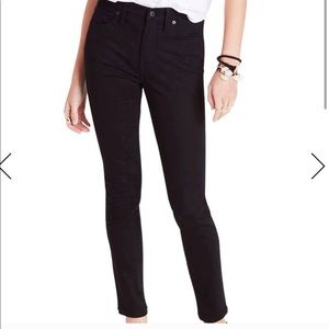 NWOT Madewell High-Rise Skinny Jeans Black Size 24